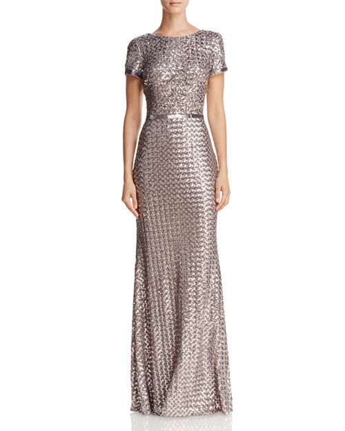 AQUA Belted Sequin Gown - 100% Exclusive | Bloomingdale\'s
