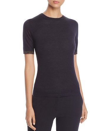 $BOSS Fifet Metallic-Cuff Sweater - Bloomingdale's