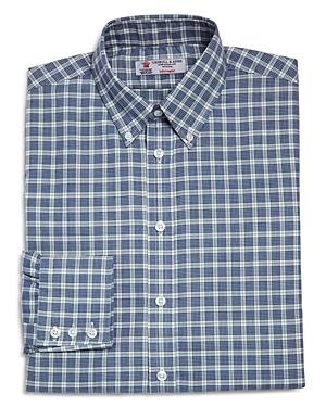 Turnbull & Asser Windowpane Check Regular Fit Dress Shirt