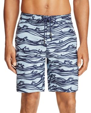 Surfsidesupply Wave Print Board Shorts
