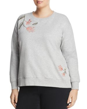 Vince Camuto Plus Embroidered Sweatshirt