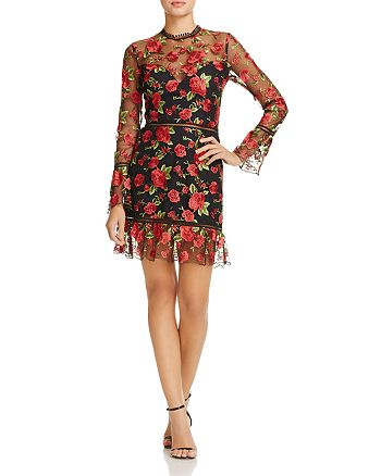 Saylor - Rose Embroidered Dress