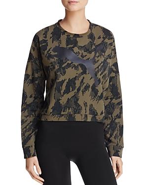 Puma Rebel Camo-Print Sweatshirt