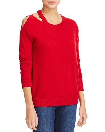 Minnie Rose - Cut it Out Cashmere Sweater