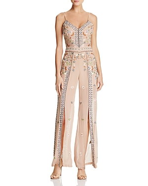 French Connection Bijou Embroidered Slit-Leg Jumpsuit