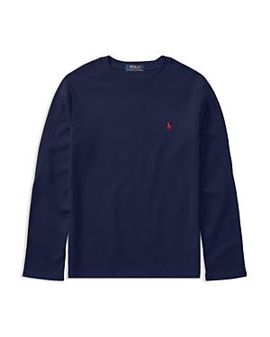 Ralph Lauren Childrenswear Boys' Waffle-Knit Long-Sleeve Tee - Big Kid