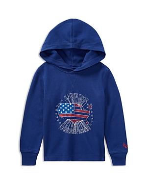 Ralph Lauren Childrenswear Boys' Waffle-Knit Live the American Dream Shirt - Little Kid