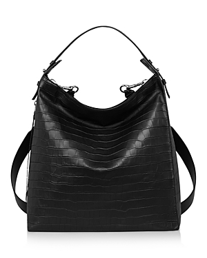Allsaints Leathers ATLAS CONVERTIBLE EMBOSSED LEATHER BACKPACK