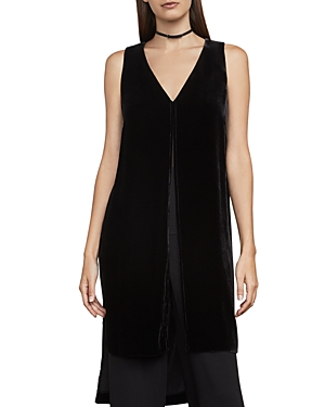 Bcbgmaxazria Svetlana Velvet High/Low Tunic Top