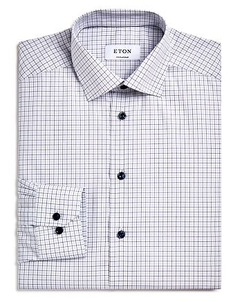 Eton - Hairline Check Regular Fit Dress Shirt