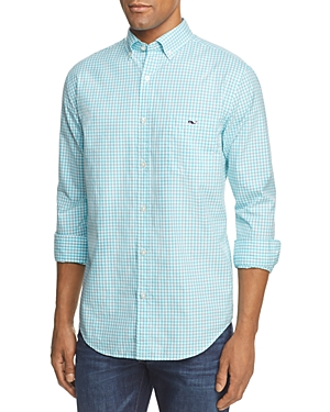 Vineyard Vines Seafloor Tucker Gingham Classic Fit Button-Down Shirt