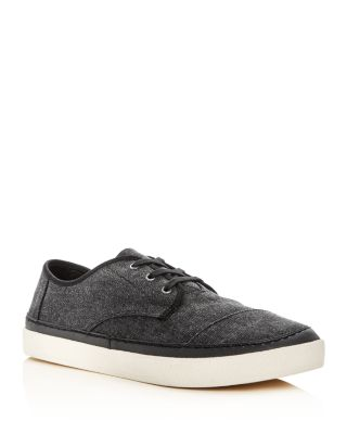 89d2f7f2d0d Toms Men S Paseo Canvas Lace Up Sneakers In Black