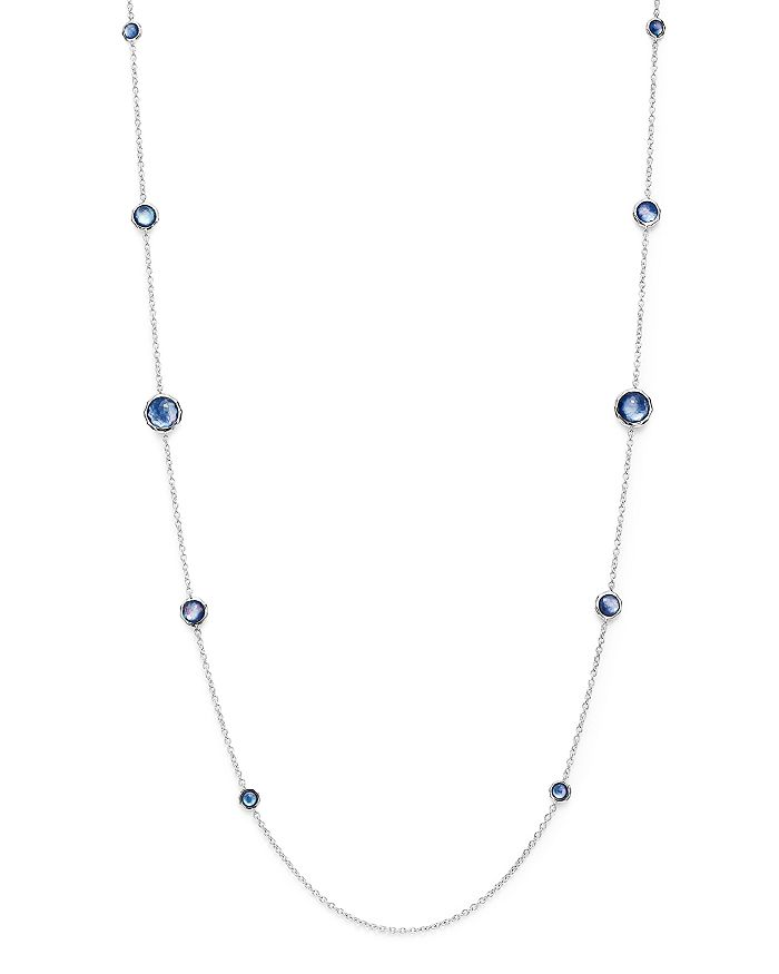 IPPOLITA - Sterling Silver Rock Candy Mother-of-Pearl, Clear Quartz & Lapis Triplet Necklace, 37""