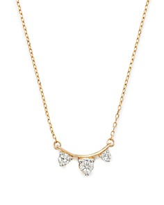 "Adina Reyter - 14K Yellow Gold Amigos Diamond Curve Necklace, 15"""