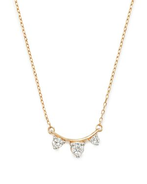 Adina Reyter 14K Yellow Gold Amigos Diamond Curve Necklace, 15