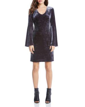 Karen Kane Velvet Bell Sleeve Dress 2762357