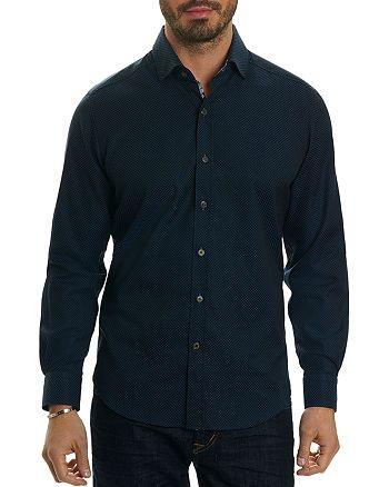 Robert Graham - Bernard Tonal Diamond Jacquard Long Sleeve Button-Down Shirt