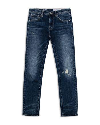 ag Adriano Goldschmied Kids - Boys' Dark-Wash Distressed Skinny Jeans - Big Kid