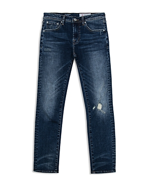 ag Adriano Goldschmied Kids Boys' Dark-Wash Distressed Skinny Jeans - Big Kid
