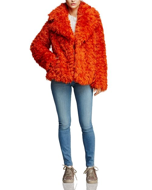 Kendall + Kylie - KENDALL and KYLIE Faux Fur Coat, J Brand Jeans & More