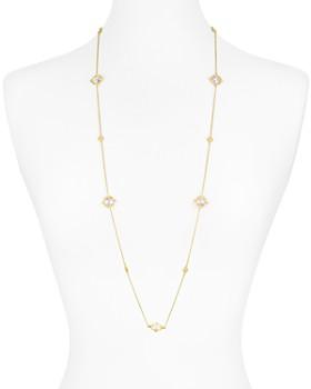 """Freida Rothman - Mirror Stone Necklace, 36"""""""