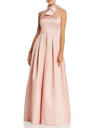 Eliza J - Bow-Neck Pleated Gown