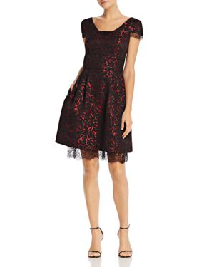 nanette Nanette Lepore Cap-Sleeve Brocade Dress