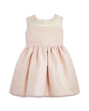 Us Angels Girls' Shimmery Brocade Dress - Little Kid