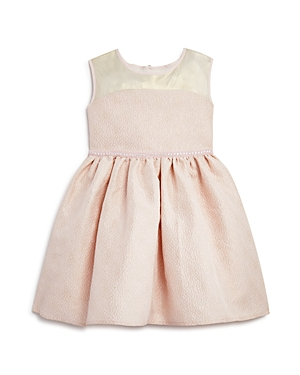 Us Angels Girls' Shimmery Brocade Dress - Little Kid