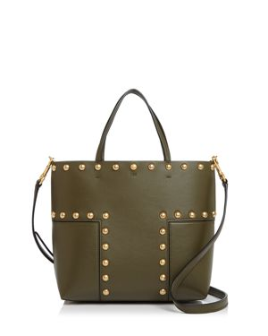 Tory Burch Block-t Stud Leather Mini Tote