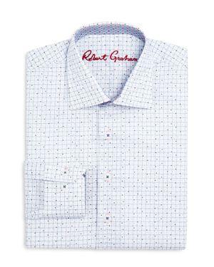 Robert Graham Boys' Graph & Dot Dress Shirt - Big Kid