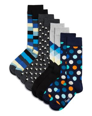 Happy Socks Patterned Socks, Pack of 4