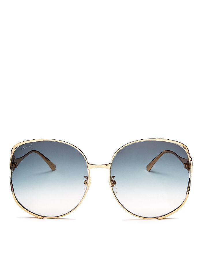0e8eb7f275ce Gucci Women's Oversized Round Sunglasses, 63mm   Bloomingdale's