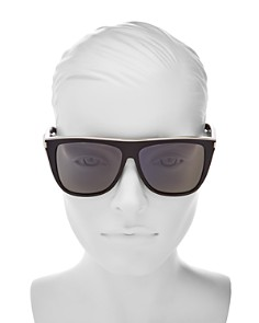 Saint Laurent - Women's Flat Top Square Sunglasses, 59mm