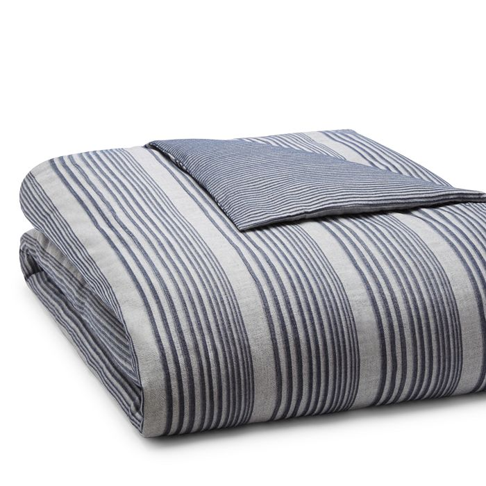 Oake - Chambray Pleated Duvet, Full/Queen - 100% Exclusive