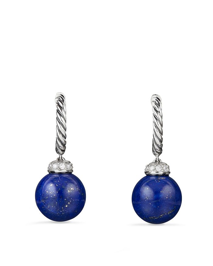 David Yurman - Solari Drop Earrings with Diamonds & Lapis Lazuli