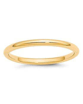 Bloomingdale's - Men's 2mm Comfort Fit Band Ring in 14K Yellow Gold - 100% Exclusive