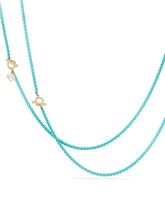 David Yurman - DY Bel Aire Chain Necklace with 14K Gold Accents