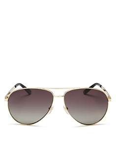Gucci - Women's Polarized Aviator Sunglasses, 61mm