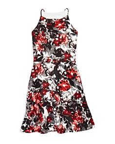 AQUA Girls' Floral Print Dress, Big Kid - 100% Exclusive - Bloomingdale's_0
