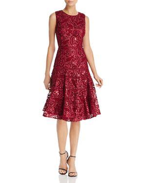 Carmen Marc Valvo Infusion Sequin Soutache Dress