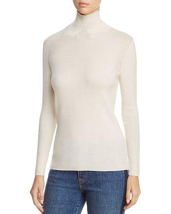Tory Burch - Jade Mock Neck Merino Wool Sweater