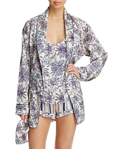 Sam Edelman Printed Smoking Jacket Robe & Cami & Shorts Set - Bloomingdale's_0