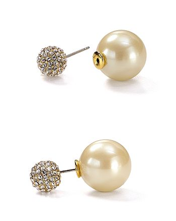 kate spade new york - Pavé Bauble Reversible Stud Earrings