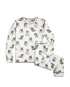 PJ Salvage Girls' Dog-Print Pajama Set - Little Kid - Bloomingdale's_0