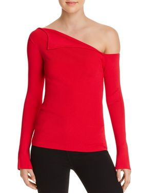 ORIGAMI ONE-SHOULDER SWEATER