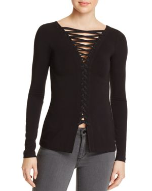 Bailey 44 Kabuki Lace-Up Top
