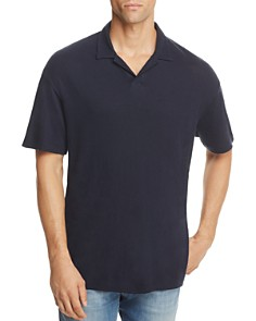 Theory Open Collar Short Sleeve Polo Shirt - Bloomingdale's_0