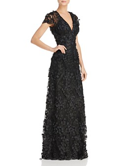 Carmen Marc Valvo Infusion - Infusion Floral Appliqué Gown