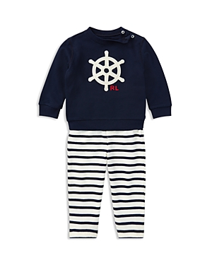 Ralph Lauren Childrenswear Boys' Nautical Sweater & Striped Pants Set - Baby